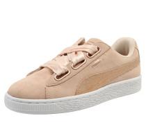 Sneaker 'Suede Heart LunaLux' creme / rosa