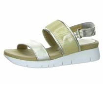 Sandalen schilf / silber