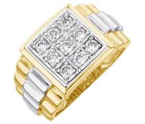 Ring / Siegelring mit Zirkonia gold