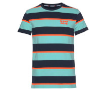 T-Shirt türkis / dunkelblau / orange