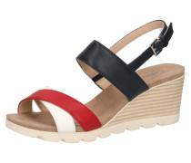 Sandaletten rot / schwarz / weiß