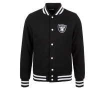 Collegejacke 'Oakland Raiders' schwarz