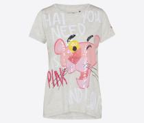 Shirt hellgrau / pink