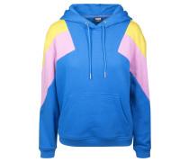 Hoody blau / gelb / rosa