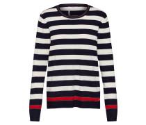 Pullover 'liz' marine / naturweiß