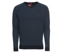 Pullover 'orange Label Cotton Vee' navy