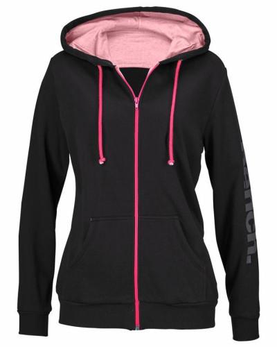 Kapuzenjacke pink / schwarz