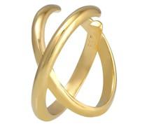 Ohrringe Earcuff Geo Kreuz gold