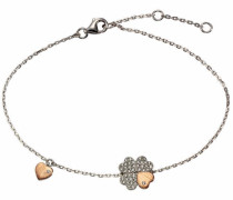 Armband »Kleeblatt/Herz« silber