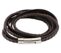 Wickelarmband aus Leder braun
