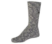 Fashion Slub Socken blau / weiß