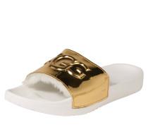 Pantolette 'Royale Graphic metallic' gold