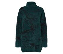 Strickpullover smaragd / schwarz