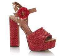 Sandalette 'micaela' rot