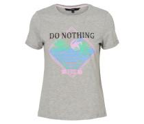 T-Shirt hellblau / grau / rosa