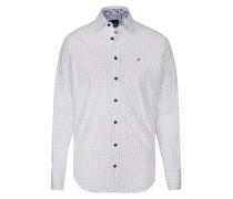 Hemd kobaltblau / weiß