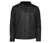 Bikerjacke aus Leder schwarz