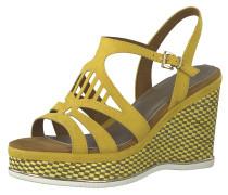 Sandale 'Wedge Sandale' gelb / orange