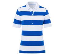 Poloshirt 'Cleo' royalblau / weiß