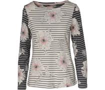 Shirt kitt / dunkelgrau / rosa