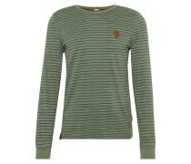 Langarmshirt grün / schwarz
