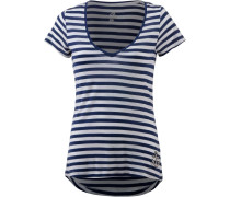 V-Shirt dunkelblau / grau
