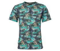 T-Shirt 'Tristan' blau / türkis / petrol