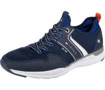Sneaker Low blau / dunkelblau / weiß
