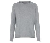 lockerer Pullover graumeliert