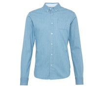 Hemd 'Ams Blauw allover printed button down shirt'