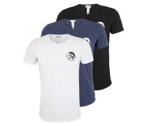 T-Shirt 'Randal' marine / schwarz / weiß