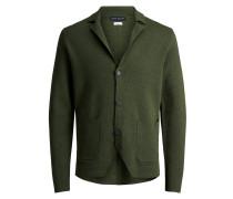 Trendiger Strick-Cardigan grün