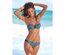 Bandeau-Bikini smaragd / helllila