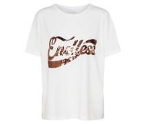 Shirt 'paige' bronze / weiß