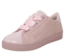 Sneaker mit Lackdetails rosa