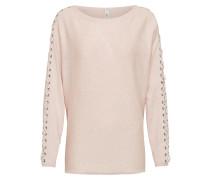 Pullover mit Ärmelverzierung rosé