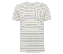 T-Shirt 'mason' blau / weiß