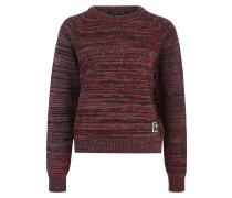 Knit Sweater 'Thalia' grau / rot / schwarz