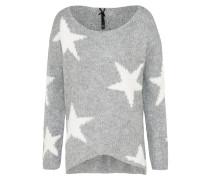 Pullover 'inspire' graumeliert / weiß