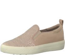 Slip-On-Sneaker rosa / silber