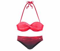 Bügel-Bandeau-Bikini dunkelpink