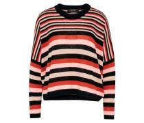 Pullover puder / rot / schwarz