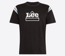 Shirt 'worker Logo T' schwarz / weiß