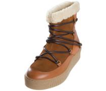 Winter-Leder-Stiefel braun
