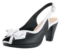 Sandalette schwarz / weiß