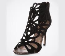 Sandaletten 'Flutter' Stiletto schwarz