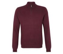 Pullover mit Merinowolle kirschrot