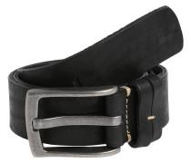 Ledergürtel 'Basic' schwarz