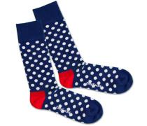 Socken 'Snow Balls' blau / weiß