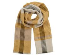 Schal beige / braun / senf